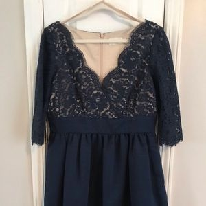Navy Eliza J lace dress